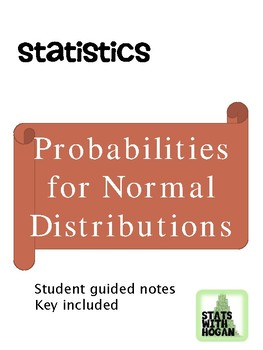 Statistics - Probabilities for Normal Distributions