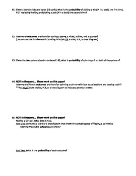 Probabilitiy Summative Test