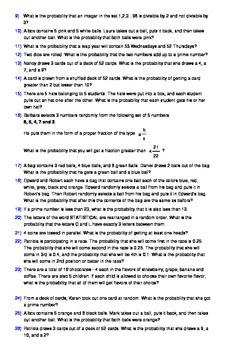 Probability - 100 Word Problems with detailed solutions and insights