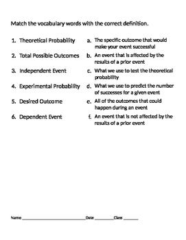 Probability 11 - Probability Unit Review