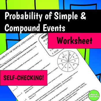 Probability - Simple and Compound Events Self-Checking