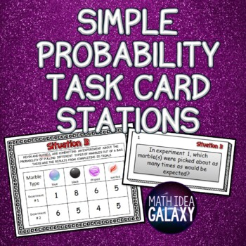 Simple Probability Task Cards