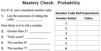 Probability, 3rd grade - Individualized Math - worksheets