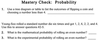 Probability, 4th grade - worksheets - Individualized Math