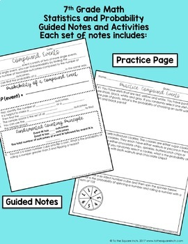 Probability- 7th Grade Math Notes and Activities