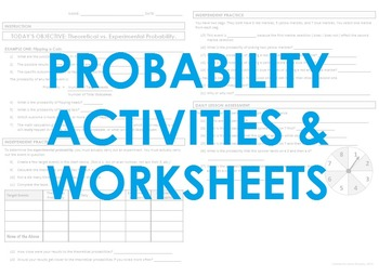 Probability Activities & Worksheets - includes CASINO MATH
