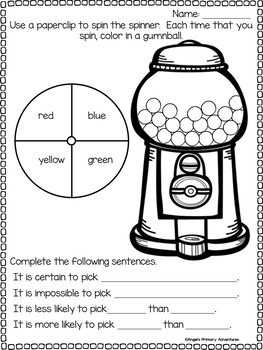 Probability Activities and Worksheets