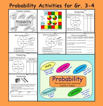 Probability Activities for Gr. 3-4    PDF   8 pages