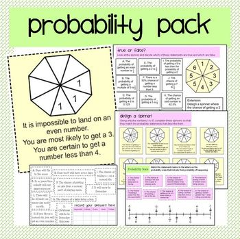 Probability Pack: Describing and Using Probabilities
