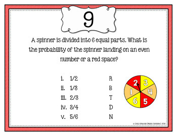 Probability Addition Rules Letter Hunt Activity