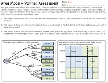 Probability Area Models - Activities and Quiz