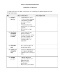 Probability Assessment and Rubric