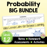 Probability BIG Bundle (Algebra 2 - Unit 12)