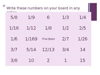 Probability Bingo for Grade 7