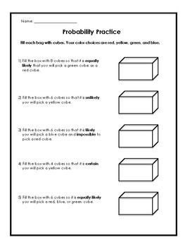 Probability Boxes Worksheet