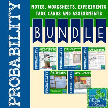 Probability Bundle - Notes, Stations, Worksheets & More