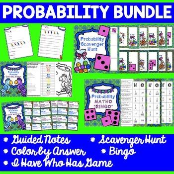 Probability Bundle - No Prep - Notes, Bingo, Scavenger Hunt & More