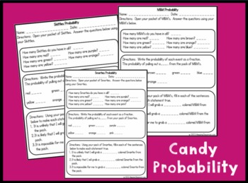 Probability Candy Activites  with Skittles, Smarties, and M&M's