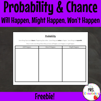 Probability and Chance {Will Happen, Might Happen, Won't Happen}