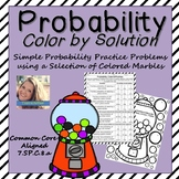 Probability Worksheet Color By Solution
