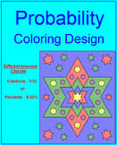 PROBABILITY - COLORING ACTIVITY