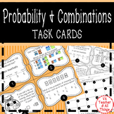 Probability & Combinations (All Possible Outcomes) Task Cards SOL 3.14