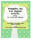 Probability, Combinations, and Tree Diagrams using Ice Cream and Toppings