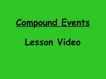 Probability Compound Events Lesson Video