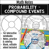 Probability - Compound Events Math Wheel