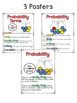 Probability Craftivity (plus three other resources!)