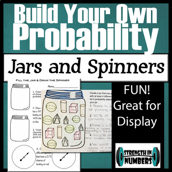 Probability - Create Your Own Jars and Spinners! for Display