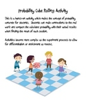 Probability Cube Rolling Activity