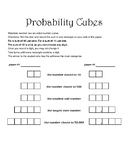Probability Cubes- a fun two-person game with probability