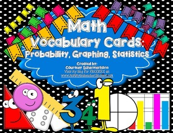 Vocabulary Cards-Probability, Graphing, Mean/Median/Mode/R