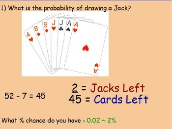 Probability - Deck of Cards Part 2 (POWERPOINT)