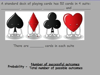 Probability - Deck of Cards Part 1 (POWERPOINT)