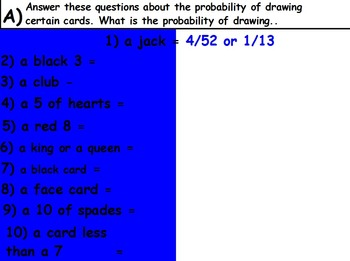 Probability - Deck of Cards Part 1 (SMART BOARD)