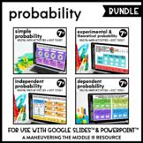 Probability Digital Math Activity Bundle   7th Grade Math Distance Learning
