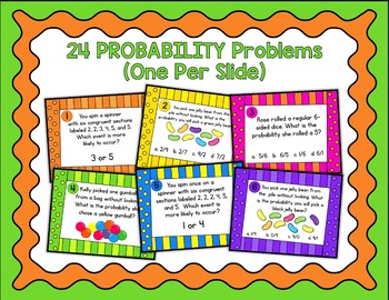 Probability Digital Task Cards Google Version