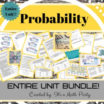 Probability - ENTIRE UNIT BUNDLE!