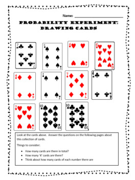 Probability Experiment:  Drawing Cards