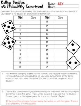 Probability Experiments - Worksheets (Experimental & Theoretical Probabilities)
