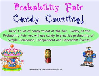 Probability - Fair Theme - Candy activity on Smartboard