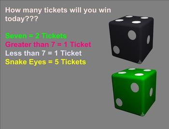 Probability:  Fair-themed interactive Smartboard daily ticket game