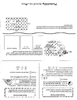 Probability Foldable TEKS Geo13.A-E