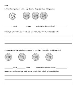 Probability Formative Assessment