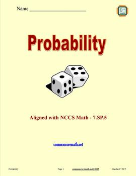 Probability Full Lesson Bundle - 7.SP.5