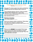Probability Game- Make Your Own!