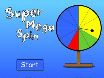 Probability/Chance Game Show - Super Mega Spin - FREEBIE
