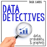 28 Data Analysis Task Cards: A Data, Probability, and Graphing Math Activity